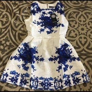 Jacquard Sleeveless A-line Skater Dress - NWT